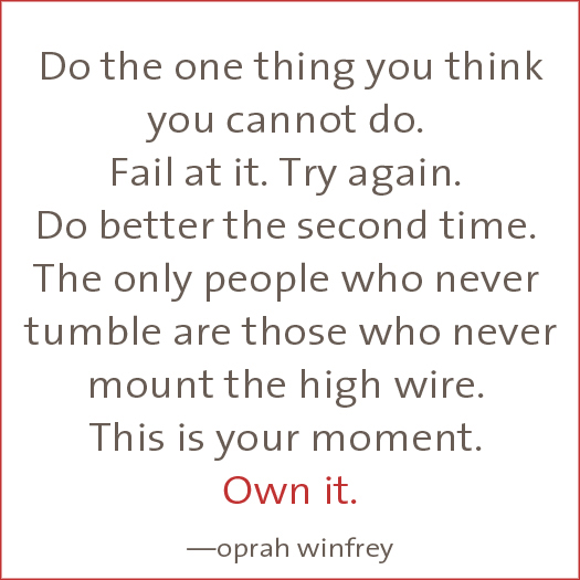 entrepreneur success Oprah quote fail